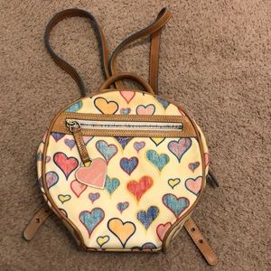 Dooney & Bourke hearts mini backpack purse bag